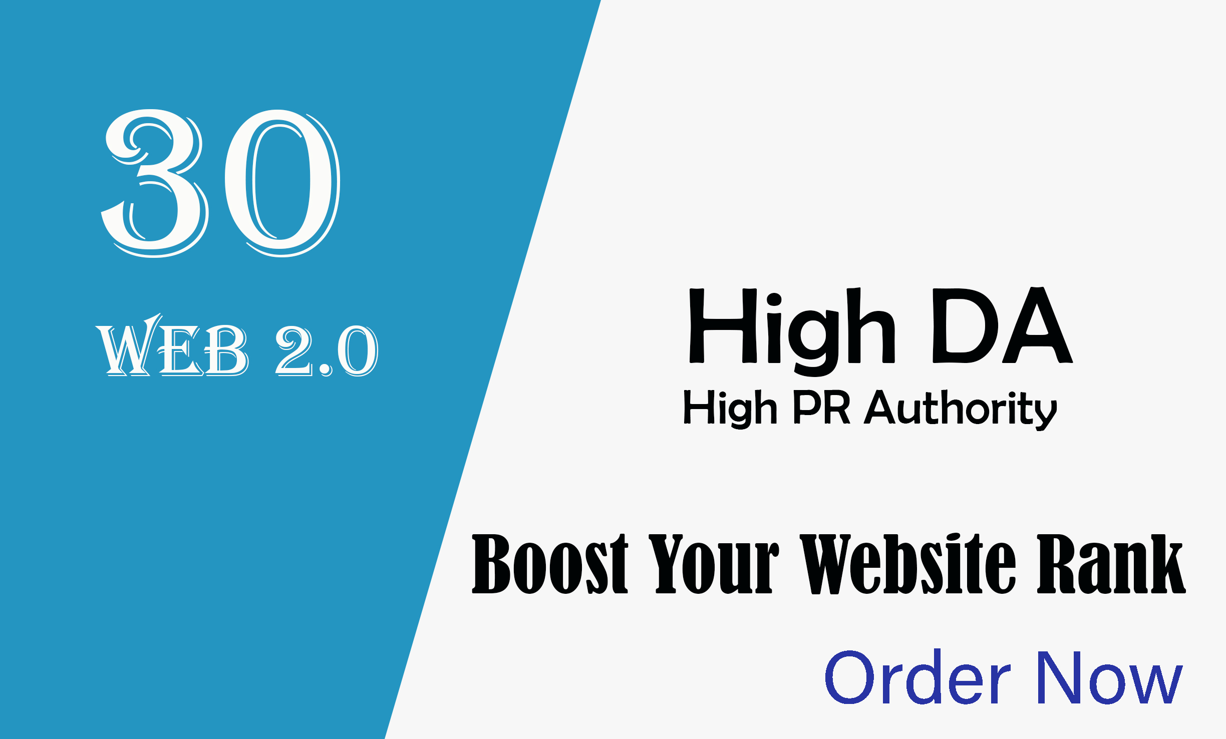 I will skyrocket your website with high PR web 2 0 sites