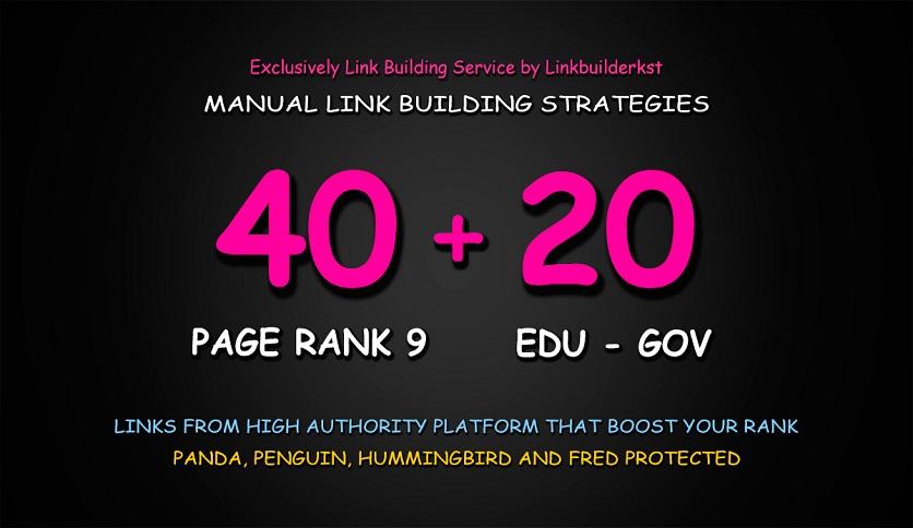 build 60 high authority USA dofollow seo backlinks service. edu link building
