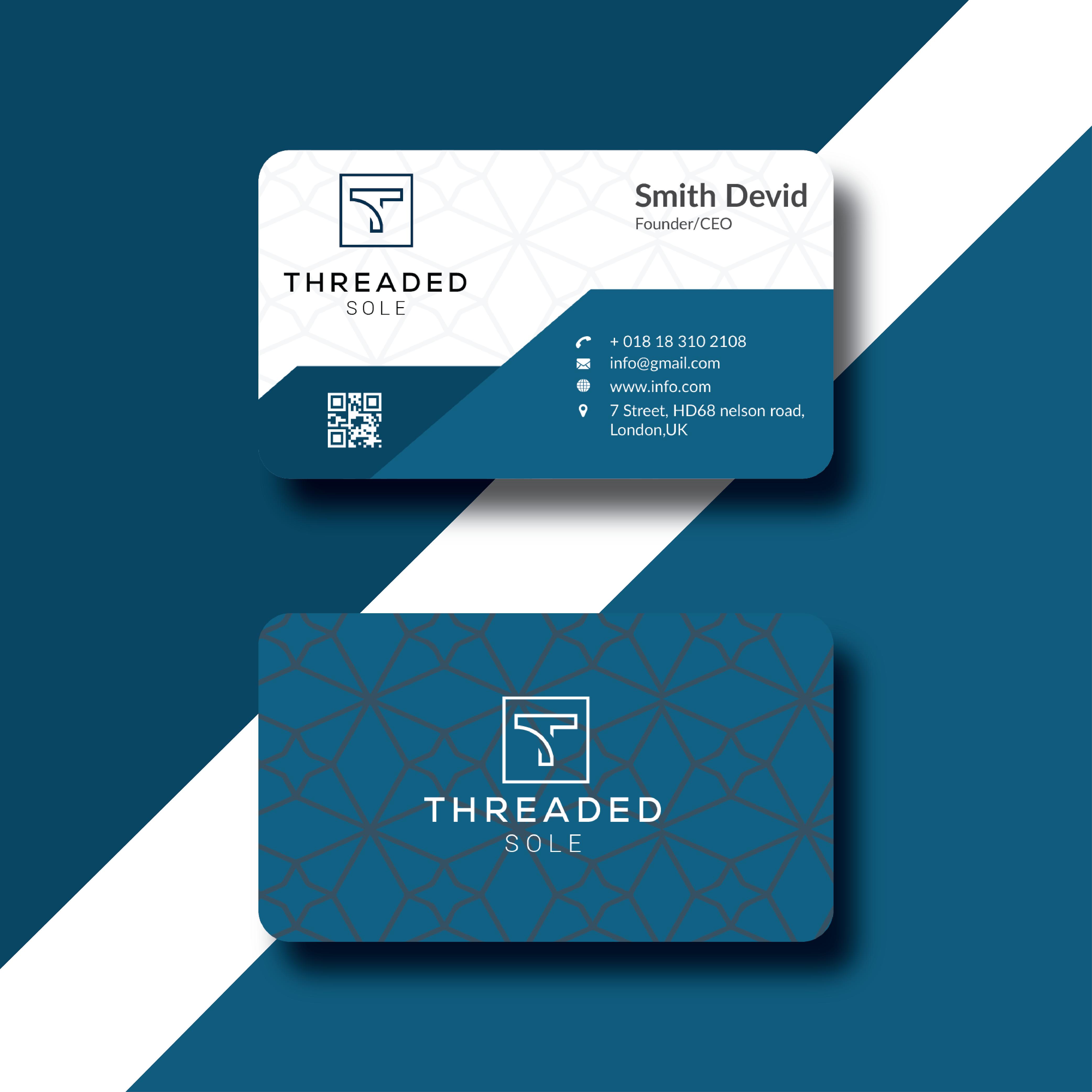 I will do a professional unique,  minimalist business card design