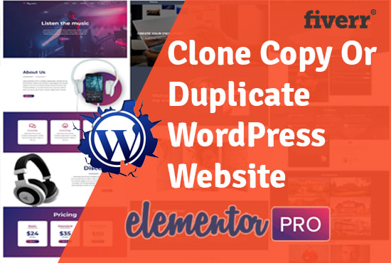 I will clone,  copy,  design WordPress website using elementor pro