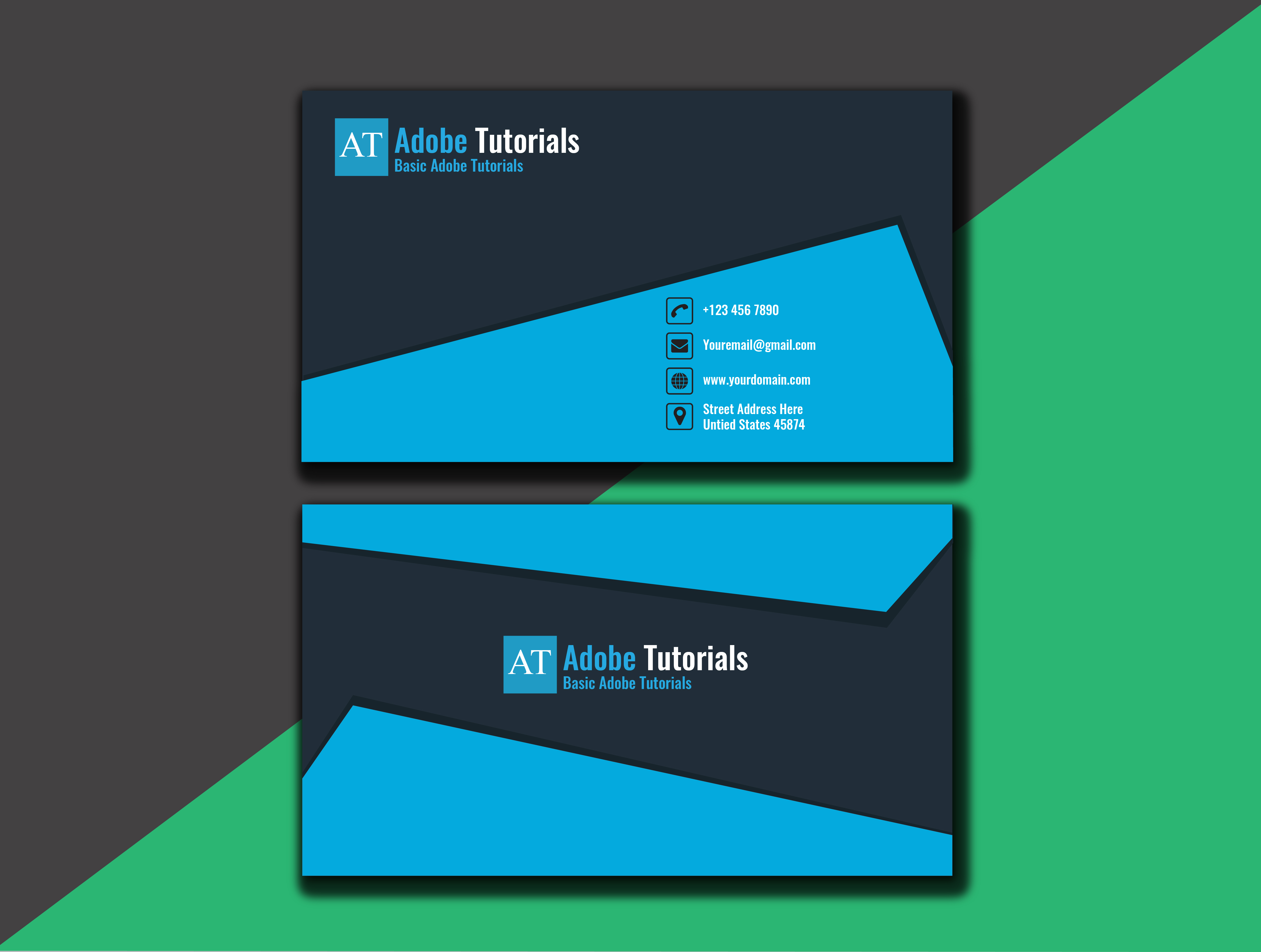 I will design business card with two concepts 12 hours