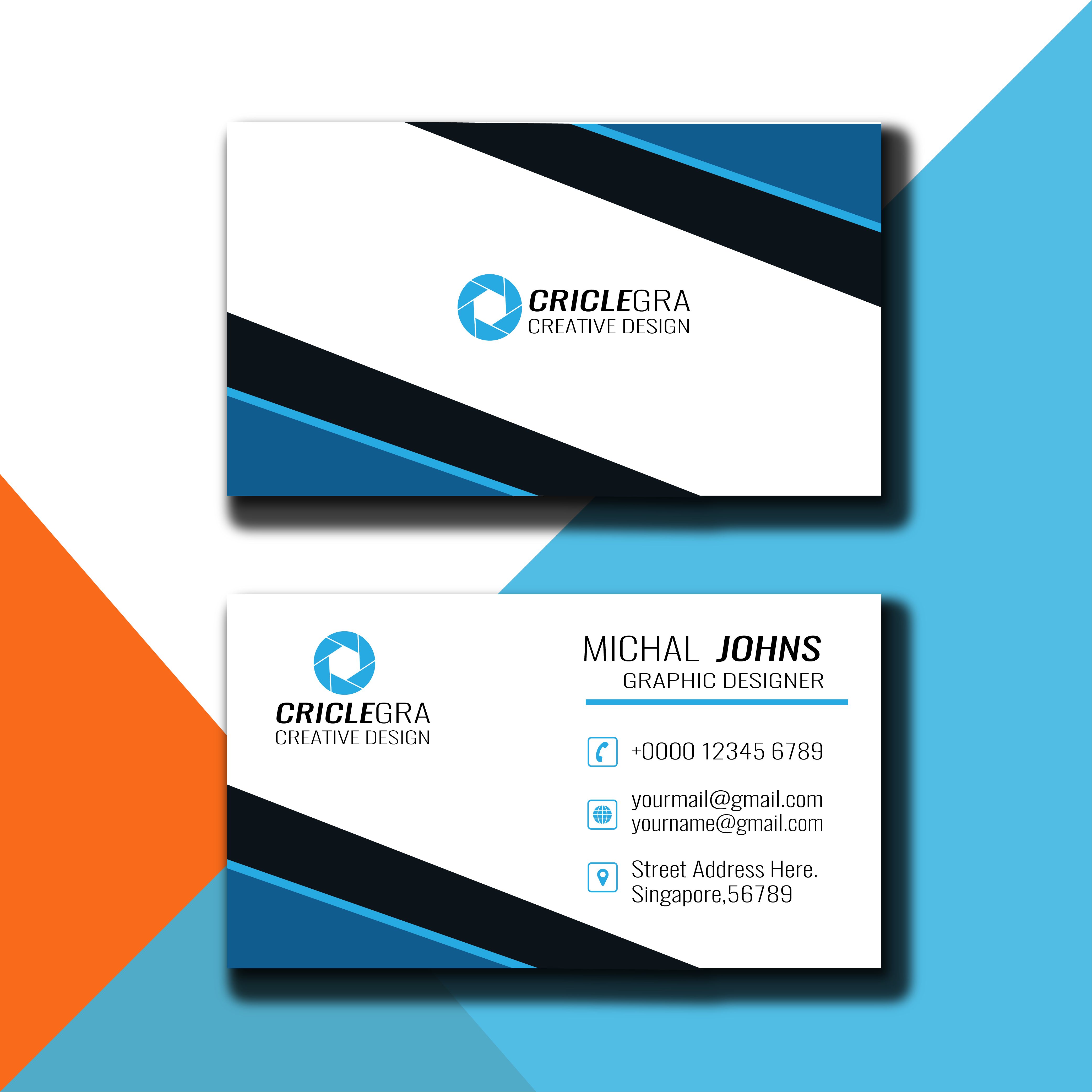I will business card with two concepts 24 hours