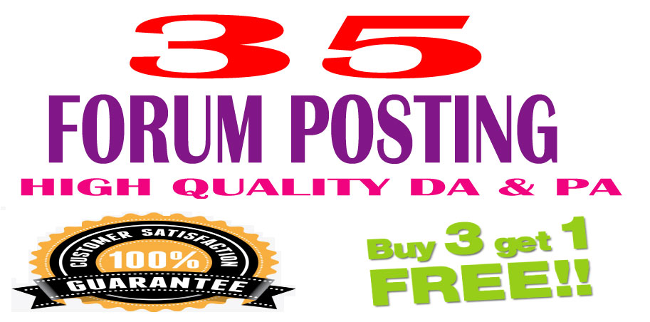 l will provide 35 d0f0ll0w ForumPosting backlinks on High quality DA & PA