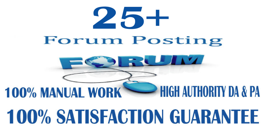 l will provide 25+ d0f0ll0w ForumPosting backlinks on High quality DA & PA