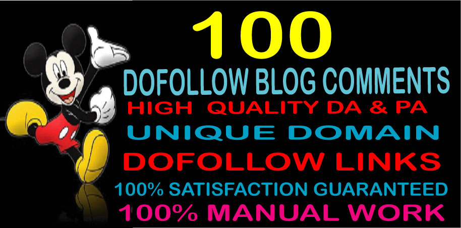 I will provide High Quality 100 Dofollow Blog Comments Backlinks