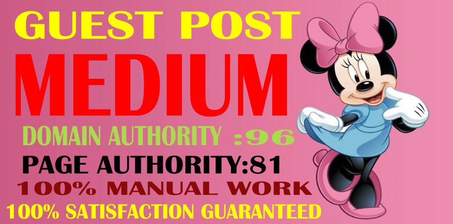 Write & Published Guest Post on Medium High Authority DA & PA Permanent Backlinks