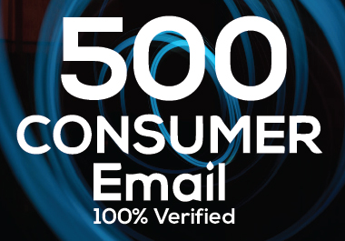 I will provide 500 verified nish base consumer email
