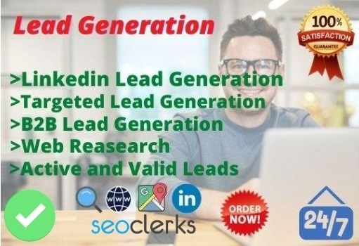 I will do targeted linkedin lead generation, b2b and lead generation for 20 lead