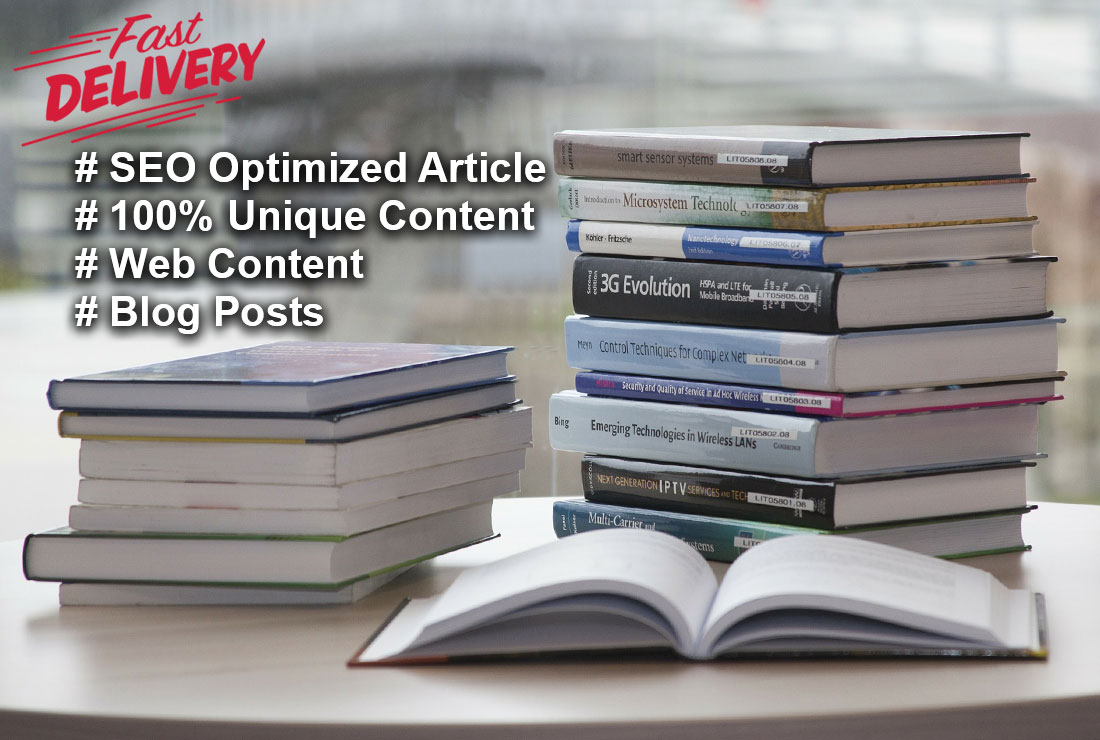 I'll write seo-friendly,  well researched blog,  article and web content