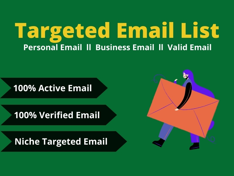 I will Collect 5000 Niche Targeted Active and Verified Email List for You