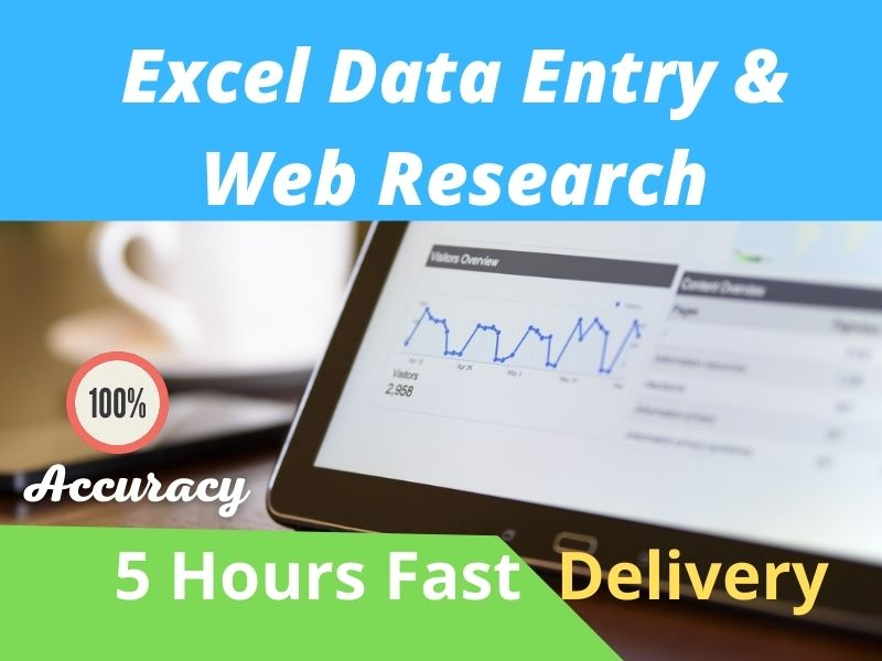 I will do Data Entry and Web Research for your Company or personal work
