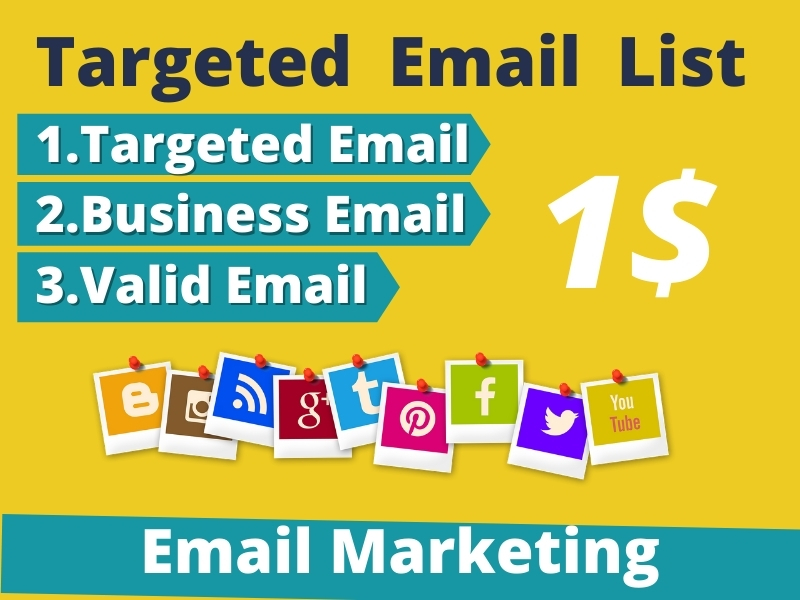 I will provide 5000 Targeted Email List for Marketing