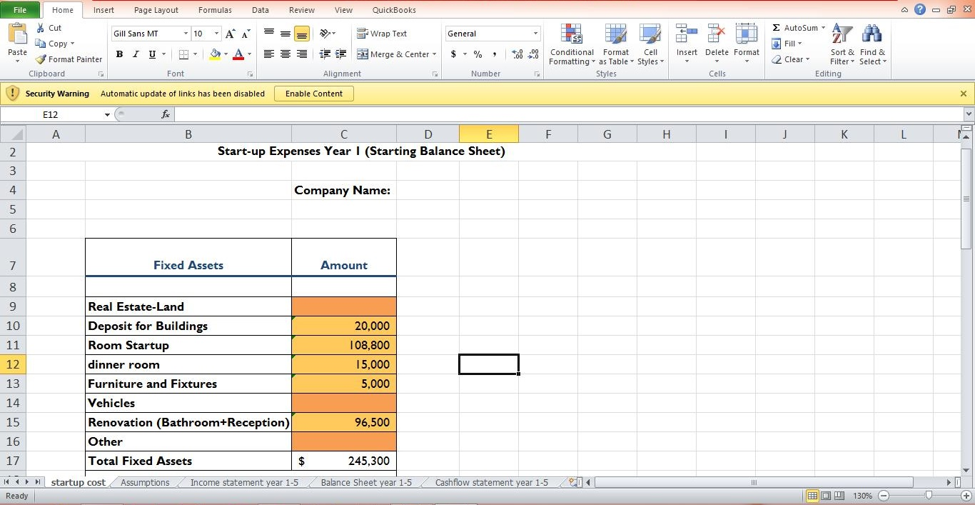 Financial Forecasting and Startup plans