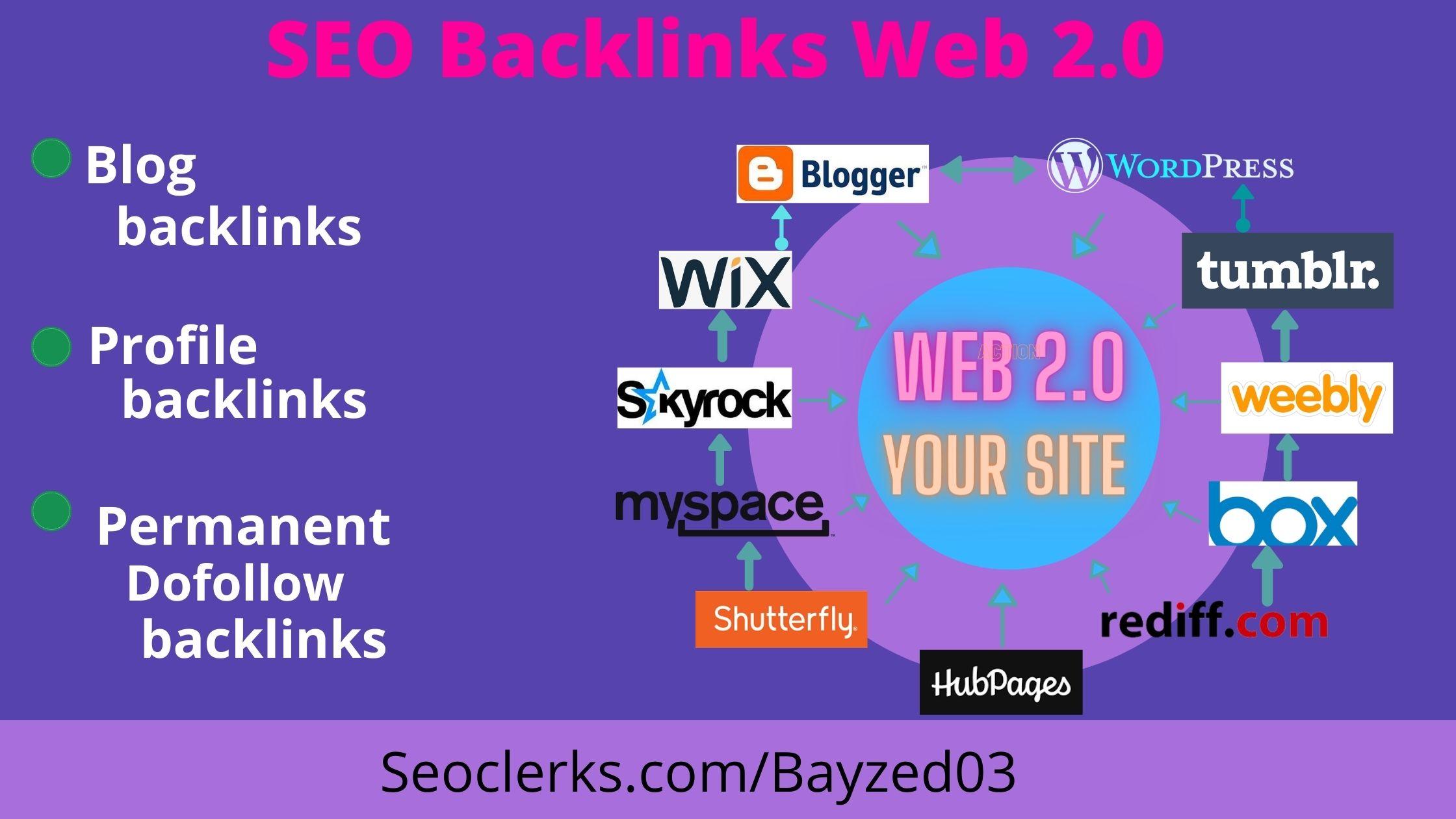 I will make 30 high authority web 2.0 backlinks