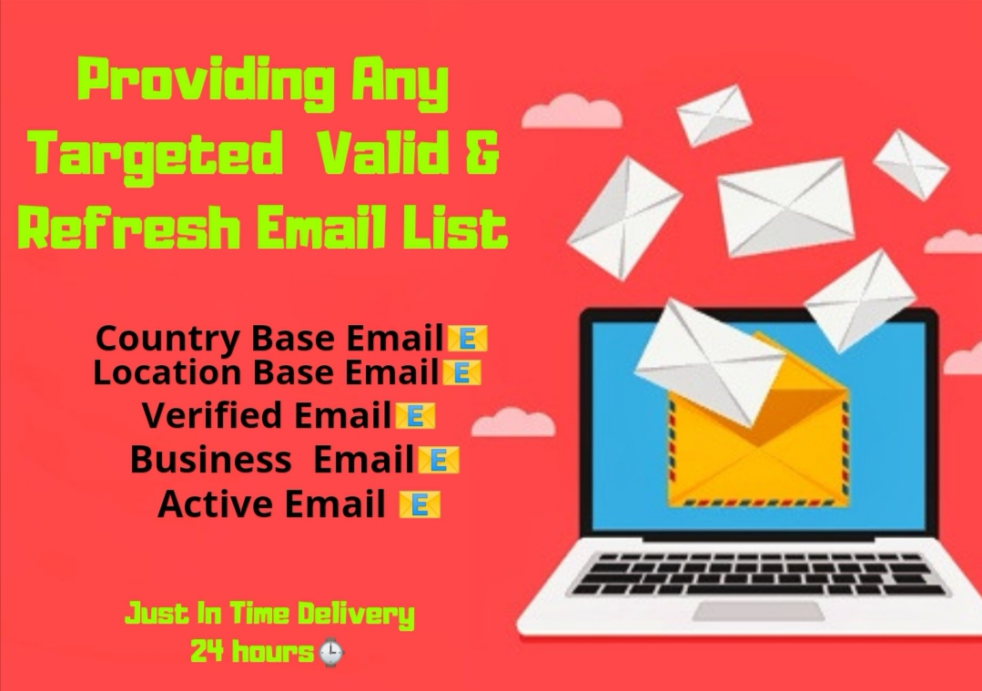 I will Provide any targeted fresh & clean niche email list