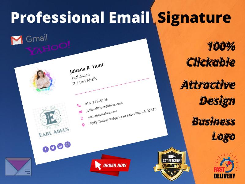 I'll Provide Attractive Clickable Email Signature