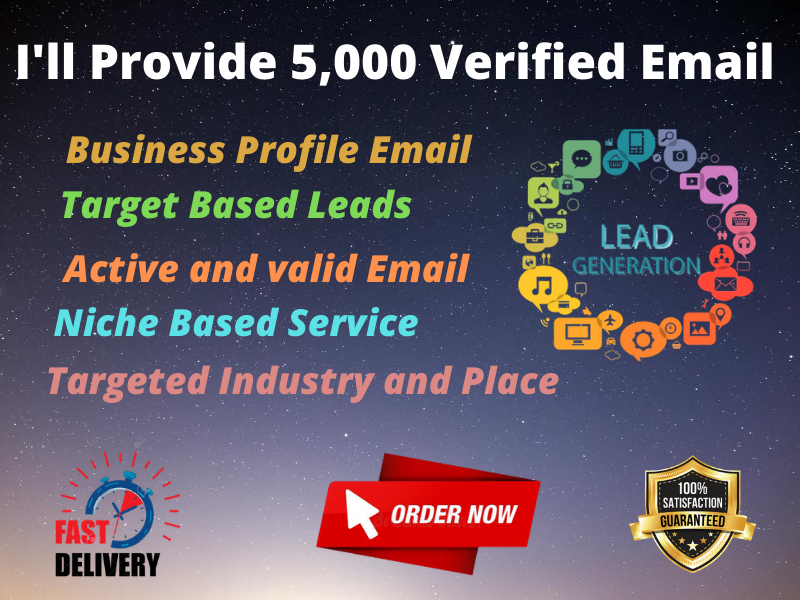 I'll Provide Targeted verified 5,000 Email List