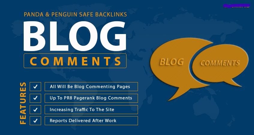 Provide 1,000 Panda & Penguin Safe Backlinks up to pr8 Blog Comments on Actual Page
