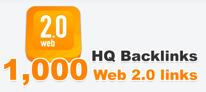 Provide you 1,000 web 2.0 HQ backlinks