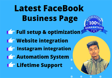 I will Create Latest Facebook Business page with lifetime support