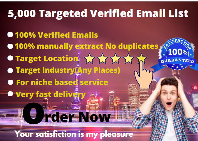 I Do Provide Targeted 5k Verified Consumer Email Lists