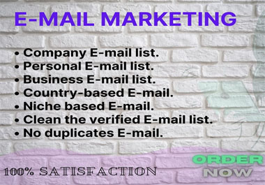 I provide 5,000 valid and verified email addresses for marketing of your esteemed business