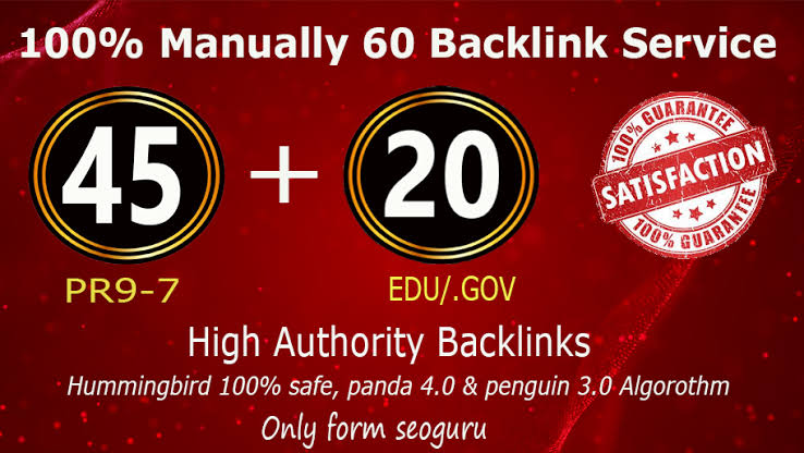 I will do creat website ranking with 60 pr9 high authority dofollow backlinks,  link building