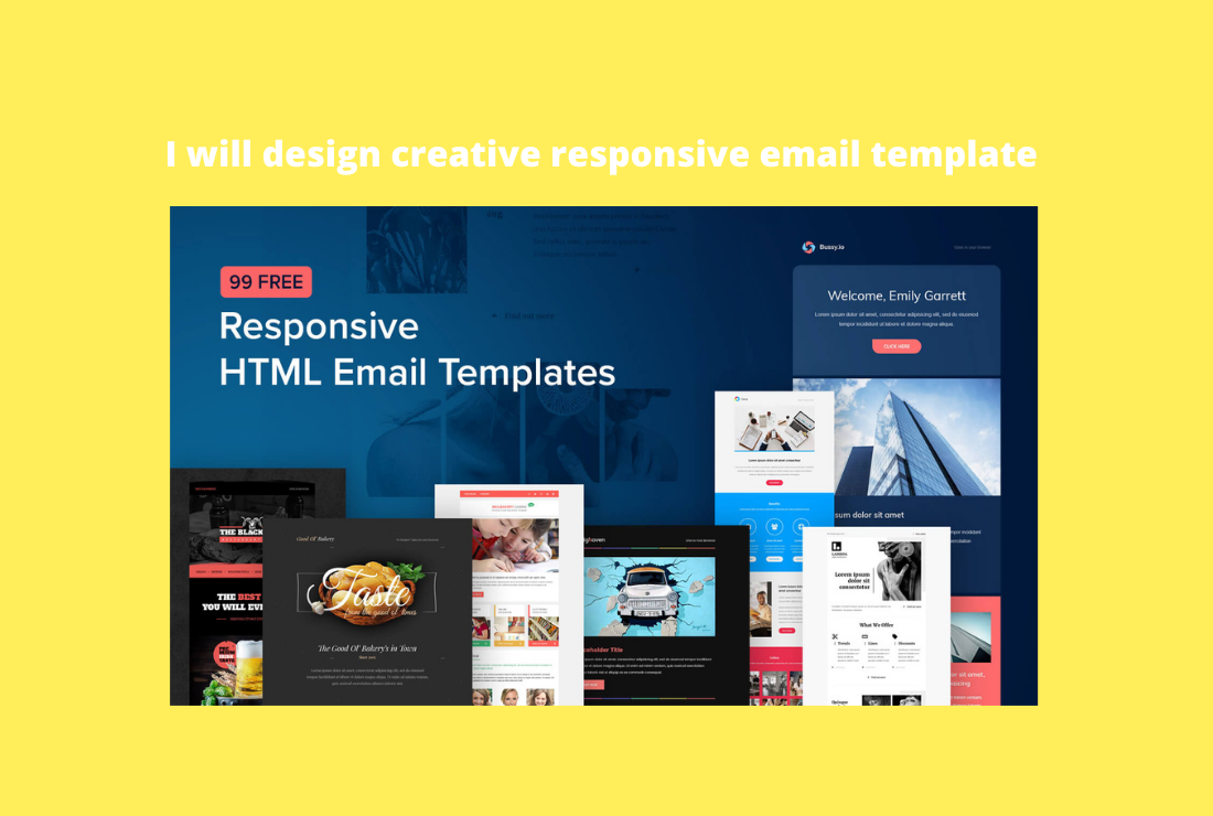 I will design creative responsive email template