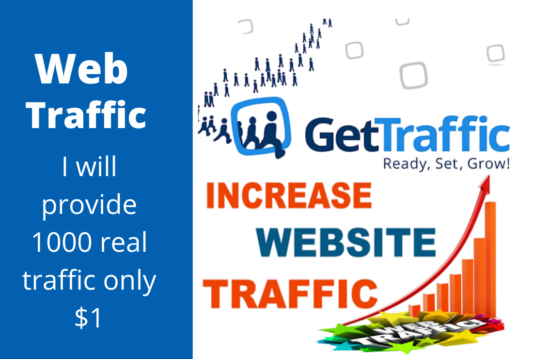 I will send 1000 real web traffic to web page