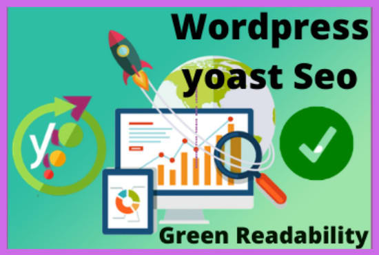 I will do yoast on page SEO and article readability green
