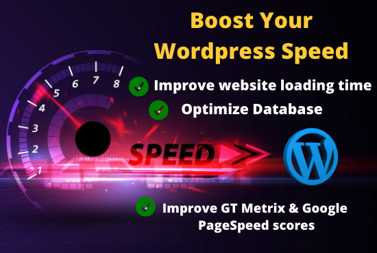 I will speed up your wordpress website speed drastically