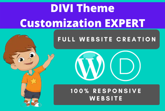 I will create divi website design and divi theme customization