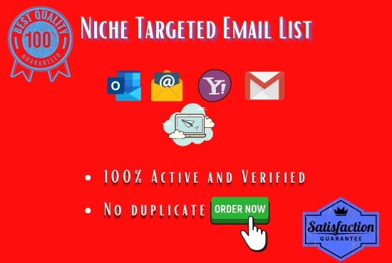 I will do niche targeted active and verified email list