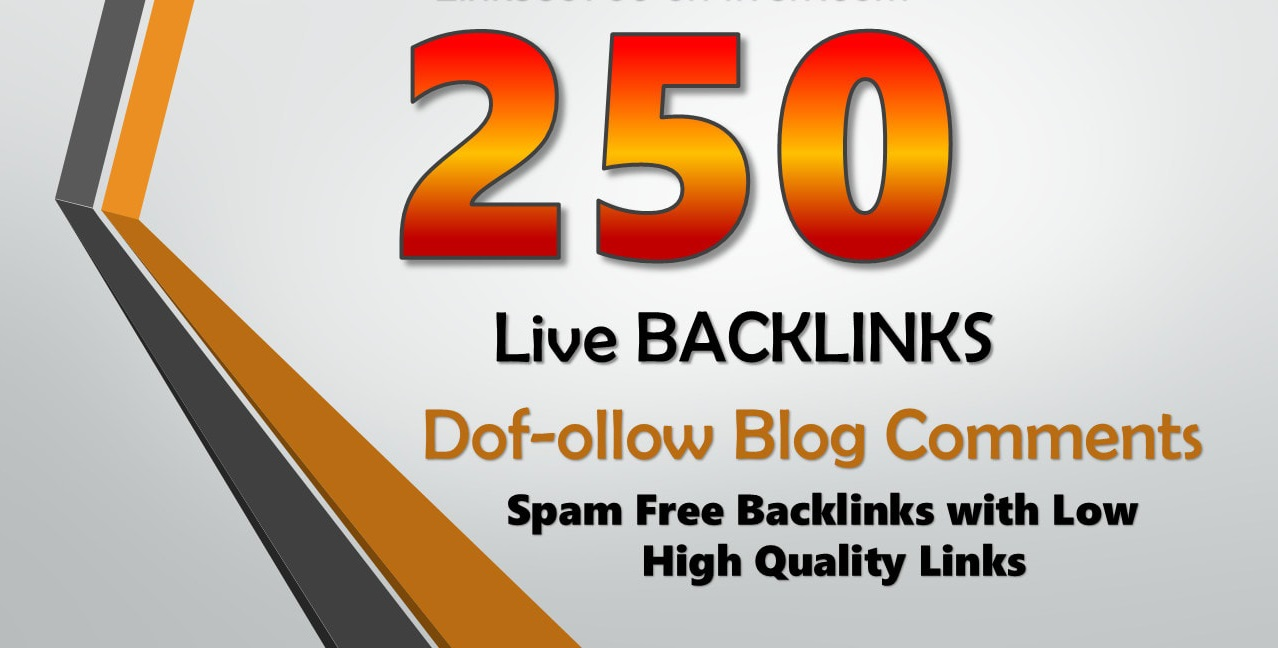 I will do 250 unique domain blog comments backlinks