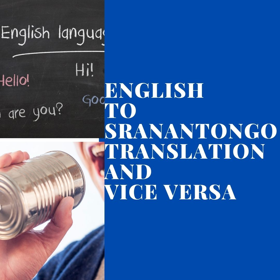 I will translate your English text to Sranantongo and vice versa