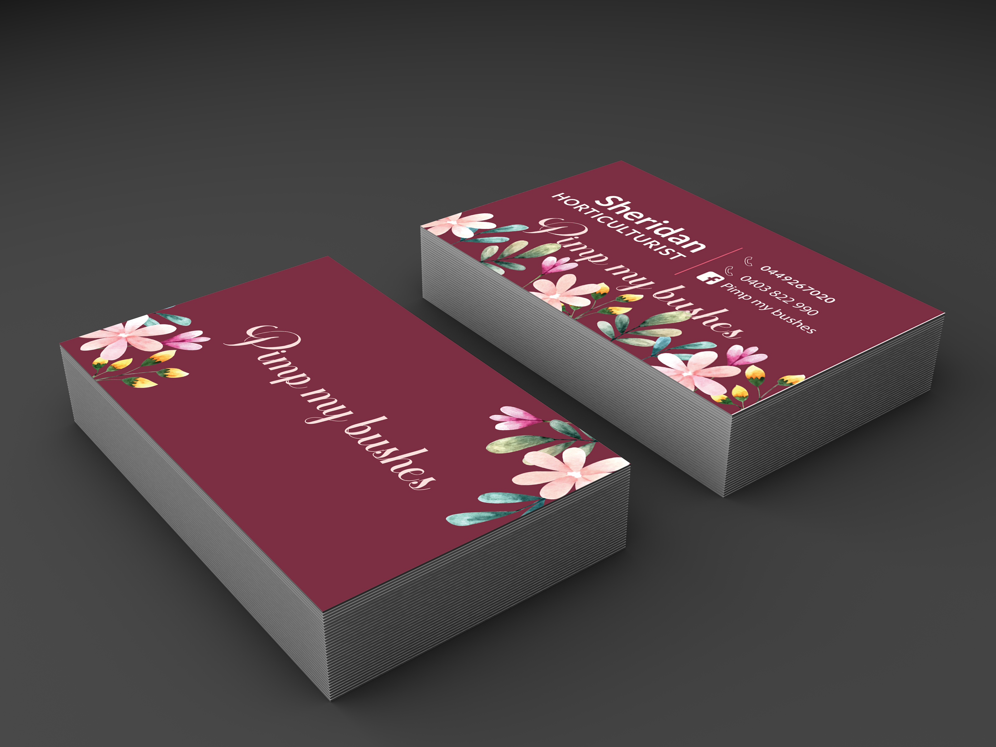 I will do professional and minimal business card design