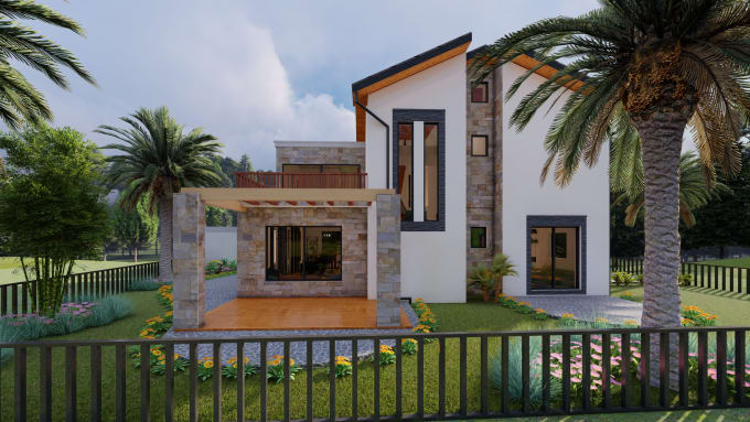 do 3d modeling and exterior rendering for any building