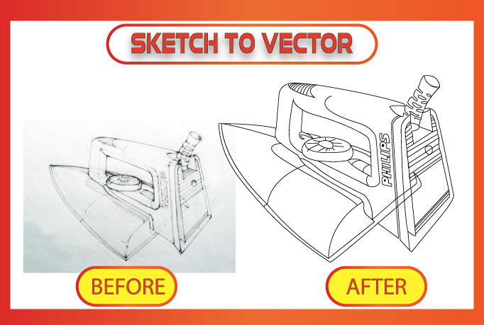 I will do clean vector tracing of any sketch or image and logo in 12 hours