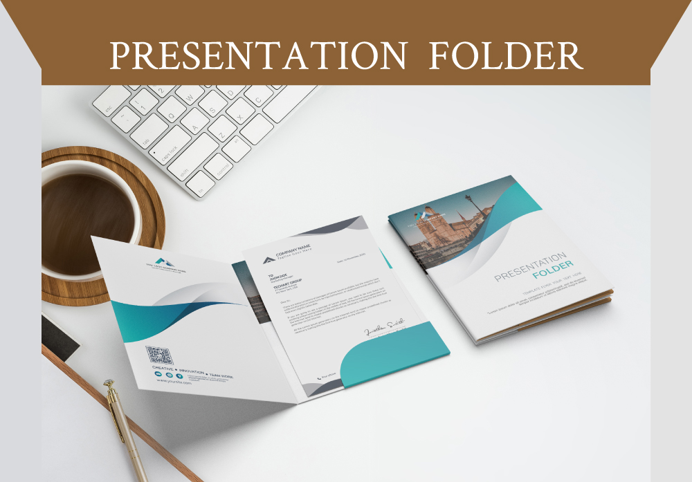 Professional Company PRESENTATION FOLDER TEMPLATE Design and ENVELOPE LAYOUT Graphics Design