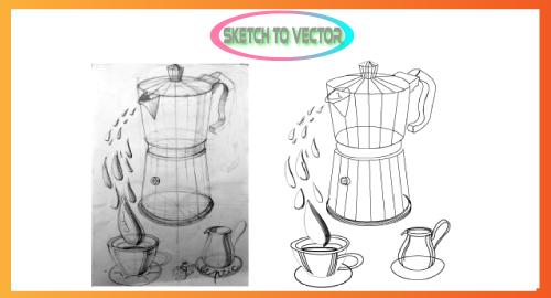 I will convert any sketch or any idea into a vector
