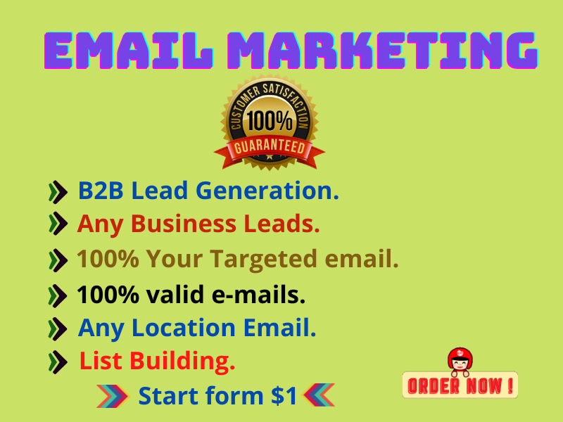 I will Provide Niche-based Targeted active & verified bulk email list