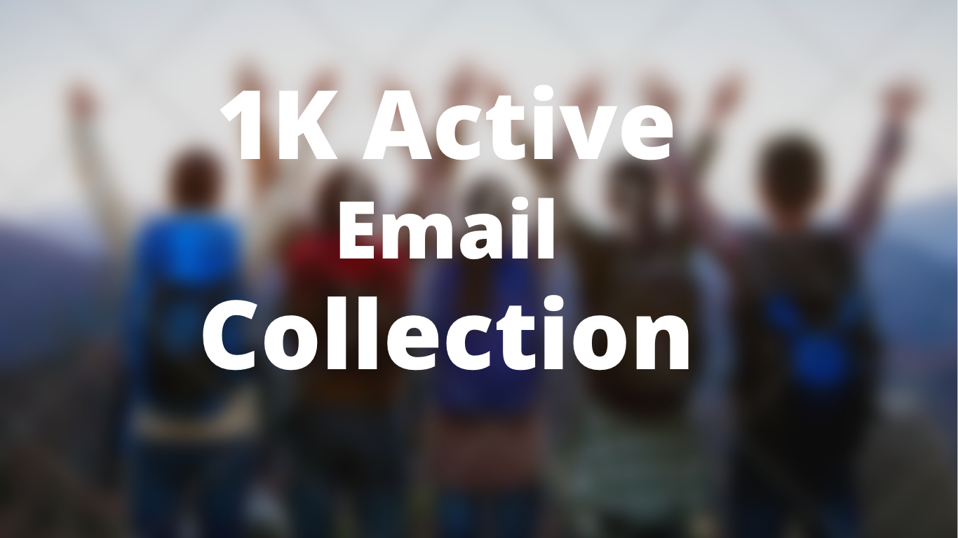 guaranteed 1k targeted email collection