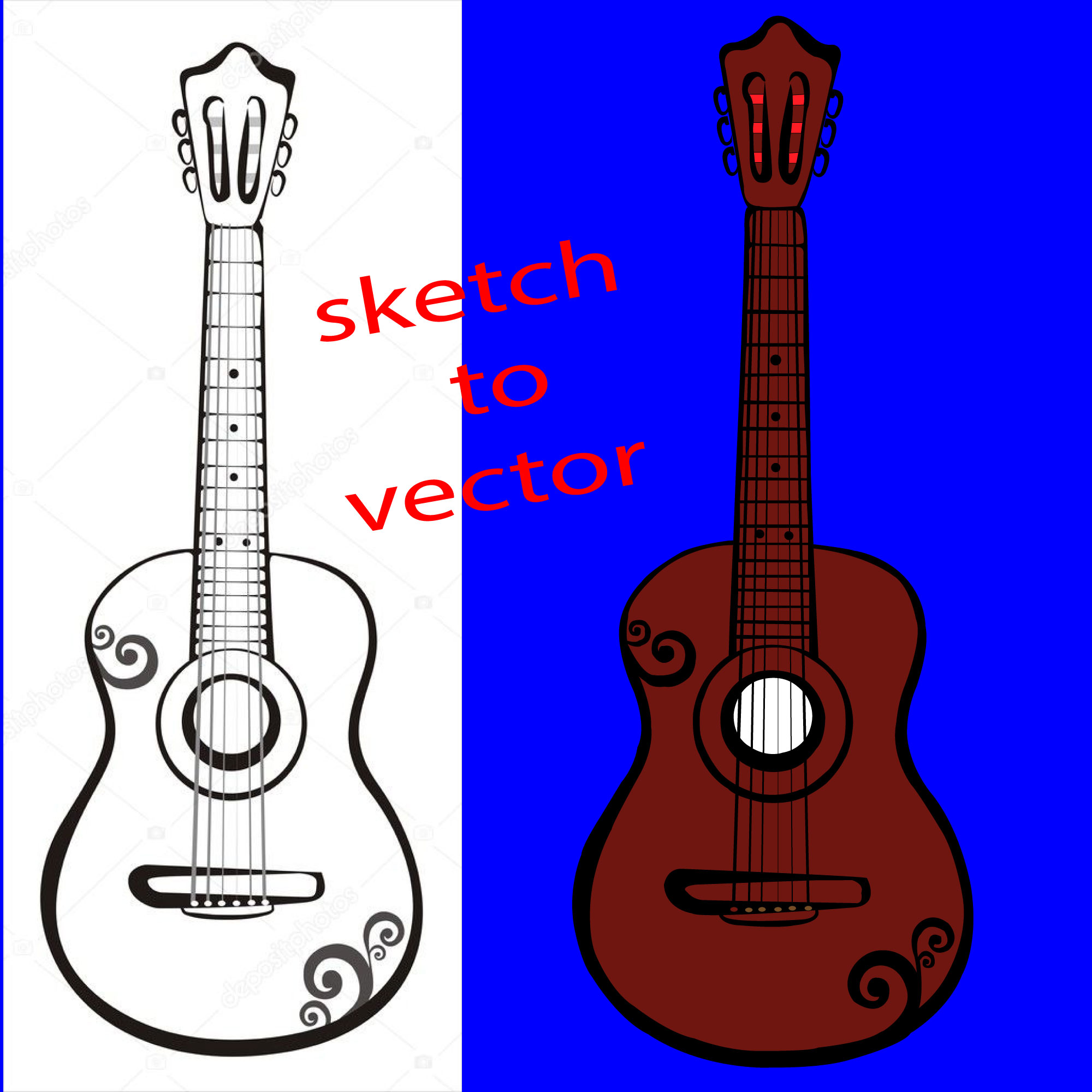 I will convert sketch to vector illustration,  logo,  anything quickly