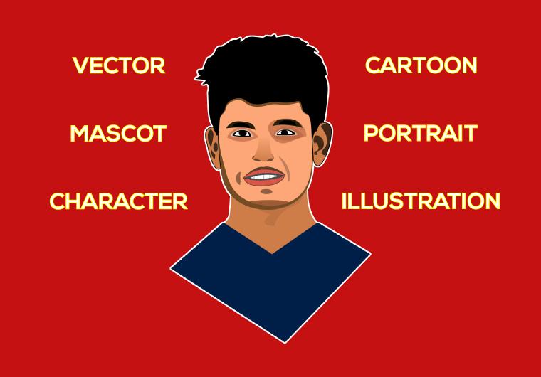 I will do vector mascot character cartoon portrait illustration