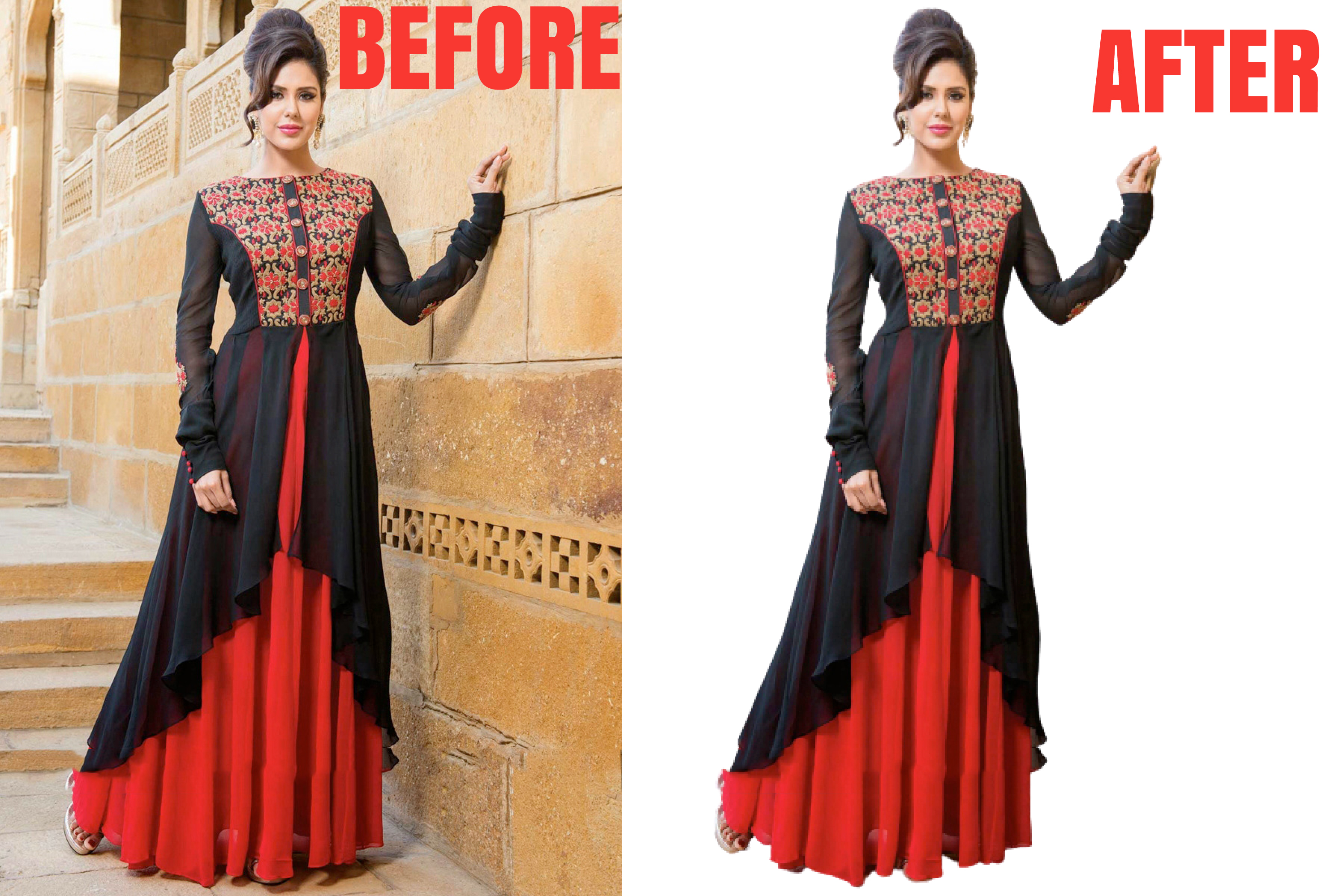 I will remove background, crop image and photoshop editing 5 images in 12 hours