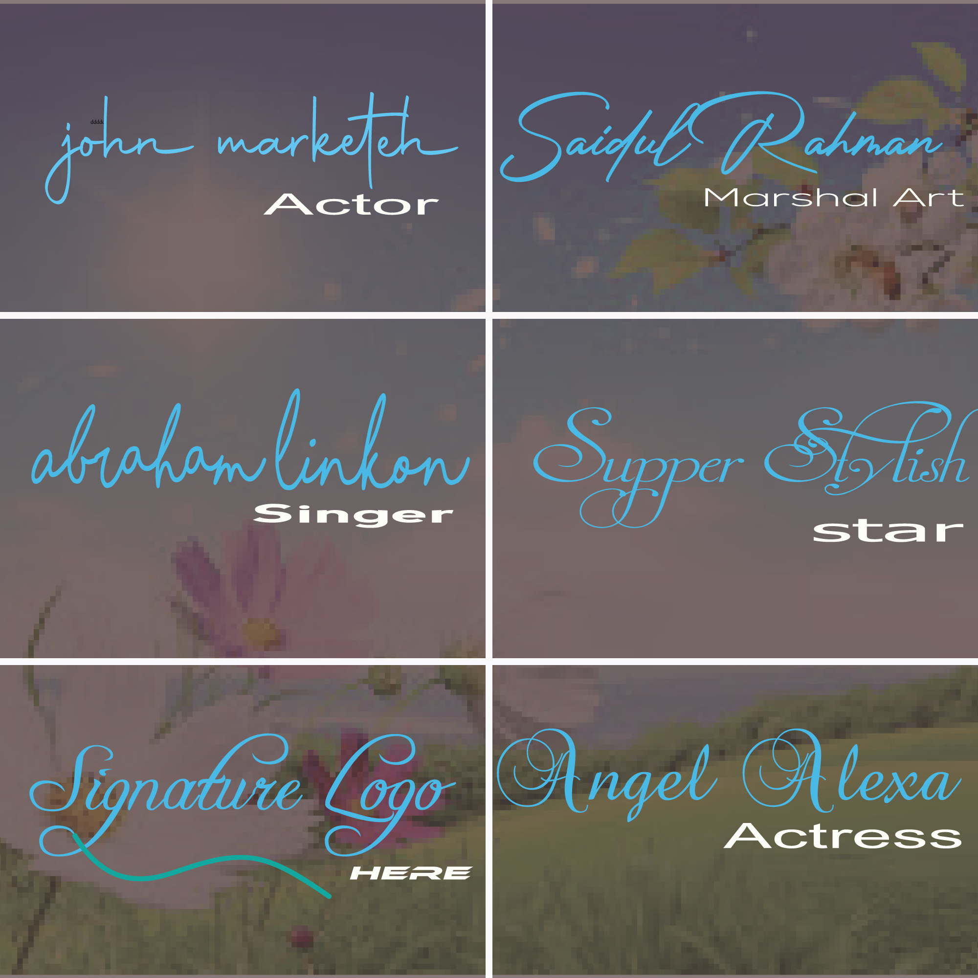 i will create any luxury signature logo or hand written within 24 hours