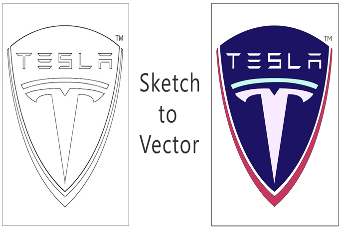 I will do vector tracing and convert your logo or sketch or idea to vector