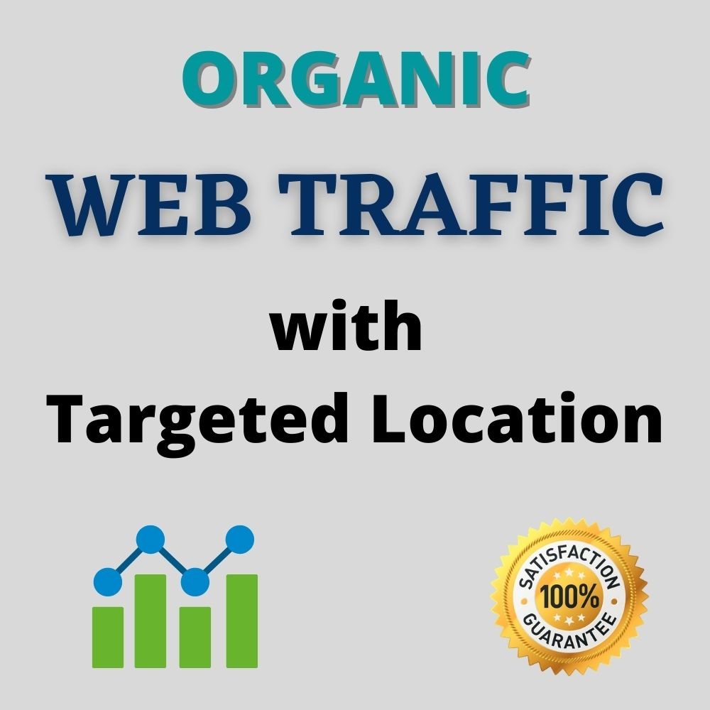 I will drive organic web traffic with worldwide real visitor
