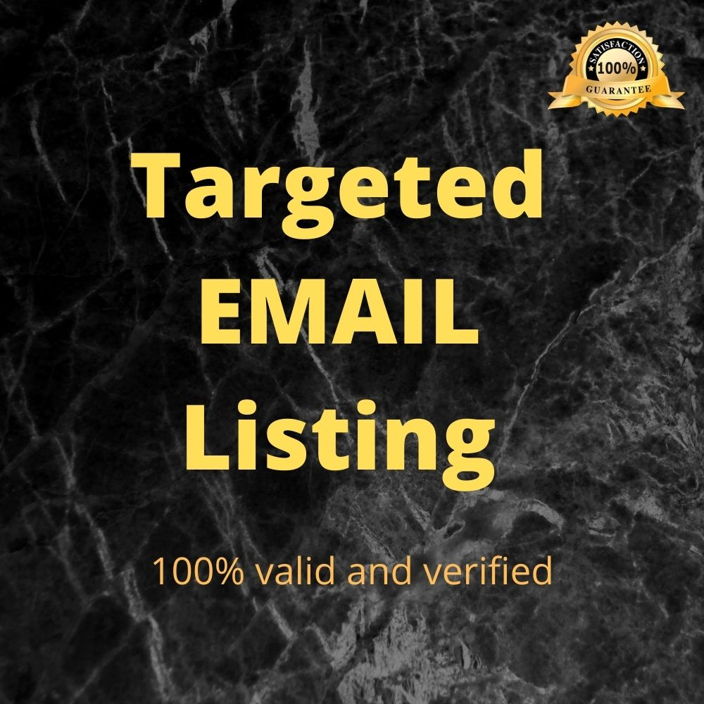 I will build valid & verified targeted email list for you business