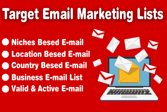I will provide active target email list your niche in world wide